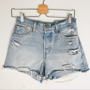 Levi's High Rise Wedgie Jean Shorts Size 27